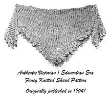 1904 Edwardian Gibson Girl Era Knit & Crochet Shawl Pattern DIY Reenactment Garb
