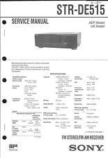 Sony Original Service Manual für STR- DE 515