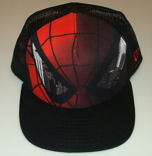 Spiderman New Era Cap Sub Front Face Hat Snapback OSFM M/L DC 9Fifty Trucker