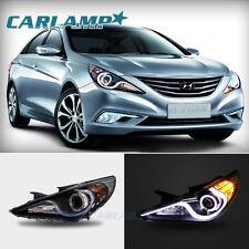 For 2011-2014 Hyundai Sonata Headlight Halo LED Angel Eye Projector Headlights