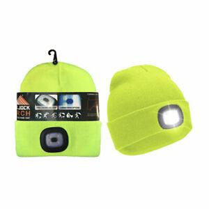 ROCKJOCK LED LiGHT Up Unisex Adults High Visibility,Hi Viz Neon Thermal Hat