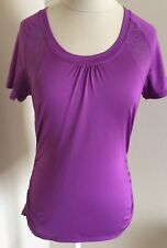 Athleta Women's Short Sleeve Top Purple XS Running Cycling Work Out
