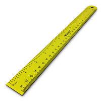 Westcott Magnetic Ruler - 12 Inch / 30 cm - Flexible Ruler - Yellow