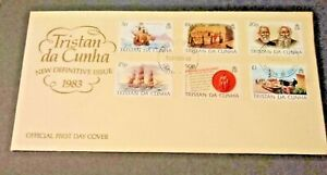 Tristan Da Cunha 1983 Definitive Issue on 2 First Day Covers