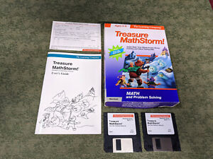 "Vintage THE LEARNING COMPANY Treasure Math Storm Macintosh 3.5"" disks education"