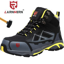 LARNMERN Steel Toe Work Safety Boots For Men Protective Industrial Shoes
