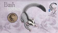 2011 Australia PNC Bush Babies Sugar Glider, with special Unc $1 Coin
