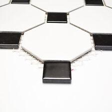 Fliesen Mosaik Küche Bad Keramik Classic Octa weiß matt schwarz 6 mm Neu #195
