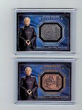 Star Wars Masterworks Silver Bronze Medallion Lot Chancellor Palpatine