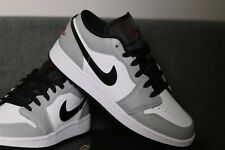 Nike Air Jordan 1 low light Smoke GS Grey/Gym Red/White/Black eu40 us7y