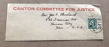 China 1937 Newspaper Wrapper to US +Canton Committee 4 Justice +WWII Historical