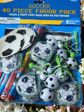 48 Football Favor Pack! 8 Party/Loot bags and 40 favours/Toys!! Soccer!