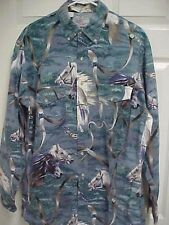 KENNY ROGERS Western Collection Horse Bridle Men Long Sleeve Shirt L Karman