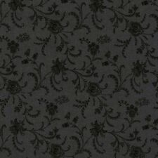 """Timeless Treasures Fabric - Viney Extra Wide (108"""") - Charcoal - 100% Cotton -HM"""