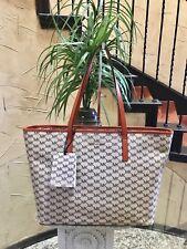 NWT Michael Kors Studio Emry Large Top Zip Logo Tote Bag