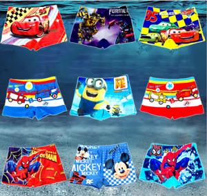 Boys Minions Transformers Swim Trunks Swimwear Shorts Beach Pool Bath Wear Kids