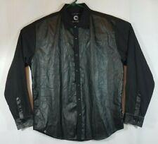 Registered Trademark Akademiks Men's Long Sleeve Button Up Black Shirt Size 2XL