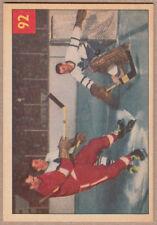 1954-55 54-55 Parkhurst #92 Lumley/Howe IA NM*
