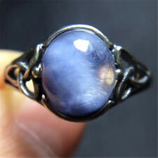 The World's Only Rare Natural Blue Dumortierite Crystal ring polished19020104