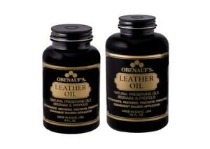 Obenauf's Leather Oil - 8oz, 16 oz & Gallon Waterproofs Restore Protect USA Made