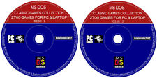 MS-DOS Games Collection For PC & Laptop Retro Emulator 2700 Classic Game 2x DVD