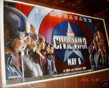 "CAPTAIN AMERICA : CIVIL WAR (2016) GIANT 6 SIX SHEET POSTER 52"" X 106""ORIGINAL"