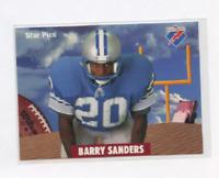 Detroit Lions Hall of Famer 1991 Star Pics BARRY SANDERS Football Card MINT