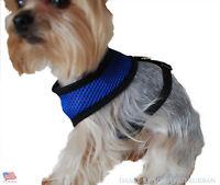 SMALL Adjustable Breathable Nylon Pet Dog Cat Vest Harness Collar Strap Mesh