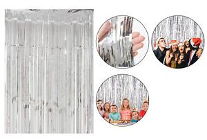 Metallic Tinsel Foil Curtains Photo Backdrop Birthday Party Wedding Decoration