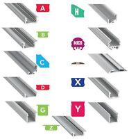 1M Alu Profil für LED Streifen Stripe Lichtleiste Aluminium Schiene LED-Strips