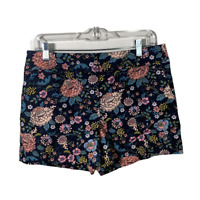 Ann Taylor Loft Womens Shorts Flowers Riviera Flat Front Casual Bottoms Size 6