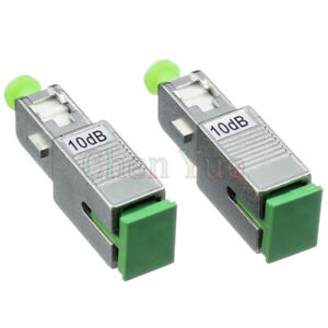 2pcs SC APC female to Male Optica Fixed Attenuator Fiber Connector Fiber Coupler