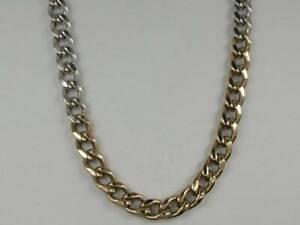 hcr26) Goldkette Kette bicolor Kette  Länge 38 cm Gold 333/-