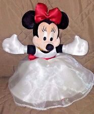 """Walt Disney World Minnie Mouse in White Dress 10"""" Tall Metal Tag Red Bows Shoes"""