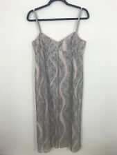 Whistles Pencil Dress Uk 14 Lace Grey Nude Fitted Strappy Floral Occasion Party