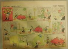Donald Duck Sunday Page by Walt Disney from 3/28/1943 Half Page Size