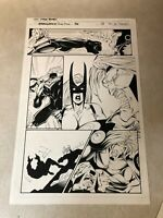 Stormwatch #36 original art 1996 Wildcats Wetworks Gen13 IMAGE PUNCH to the FACE