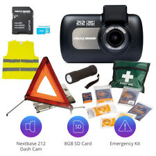 Nextbase 212 Professional Car Dash Dashboard Camera SD Card Emergency Kit Bundle