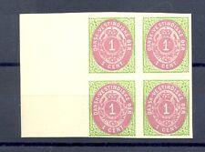 Denish West Indies Dwi-Denmark -Mi# 5 Block Of 4 -(*) -Reprints @92