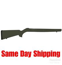 Hogue OverMolded Rifle Stock Fits Ruger 10/22 .920″ Barrel OD Green Finish 22210