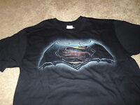 Batman vs Superman Mens KO Dawn of Justice Black DC Comics T-Shirt Size Large L