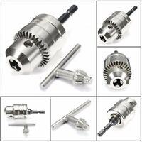 Drill Chuck Keyless 1.5-10mm & SDS Adaptor &Key Fits Drill 1/2'' 20 UNF Bit Tool