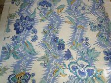 Brunschwig Fils MONSOON FLORAL BTYARD Archive Cotton Linen Bohemian Print Blues