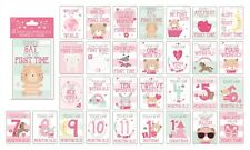 30 baby Girl memorable moment cards baby shower