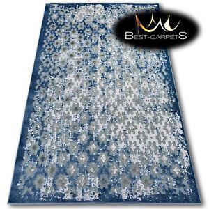 Very Soft Rug 'YAZZ' 100% Acrylic High Quality Unique Design Oriental grey blue
