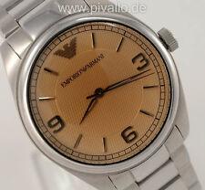 Emporio Armani Herrenuhr / Herren Uhr Edelstahl silber gold NEU AR9017