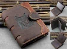 Retro Mens Genuine Leather Wallet Wolf Head Coin Pocket Card/ID Holder Purse New