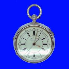 Substantial Mint Silver Fusee Coventry Centre Sec's 19J Chrono Pocket Watch 1897