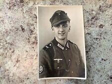 New listing Great Original Wwii German Army Mountain Troop Studio Portrait Postcard
