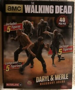 AMC The Walking Dead Building Sets Mcflarlane Toys Daryl & Merle Woodbury Arena